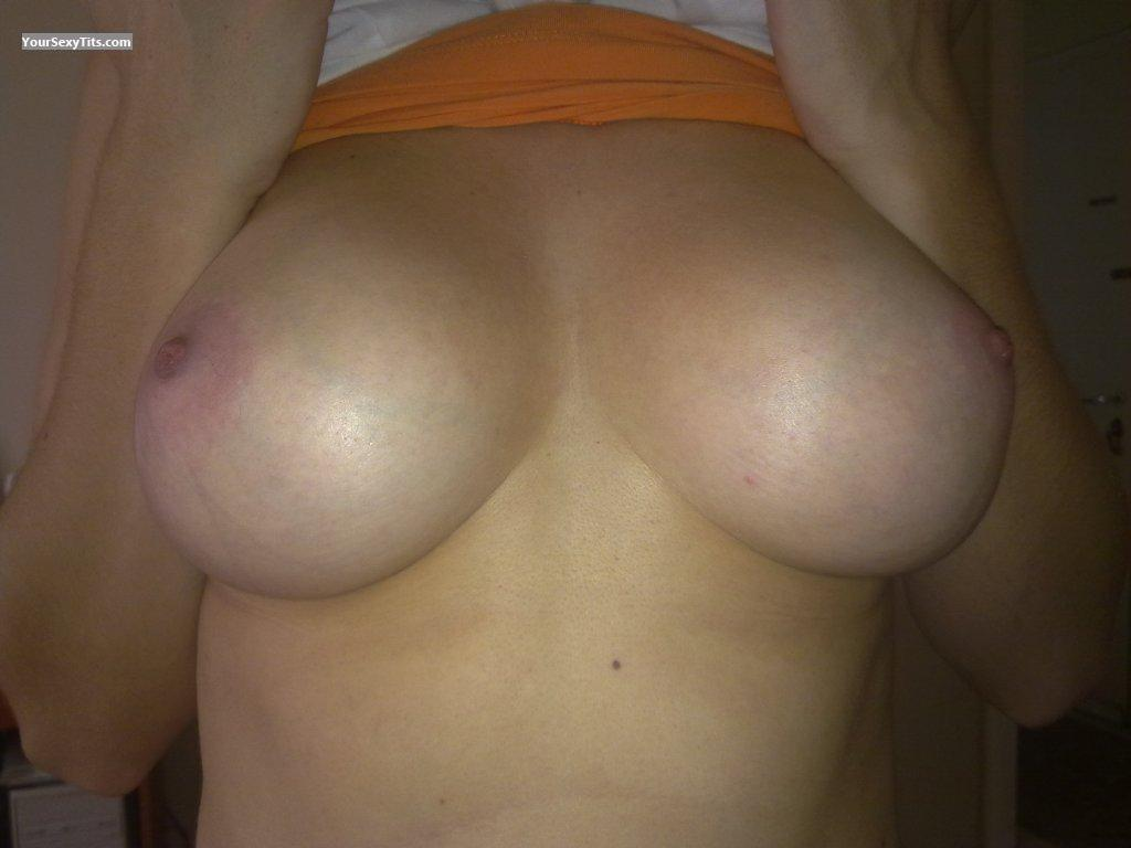 Tit Flash: Medium Tits - Angela from Greece